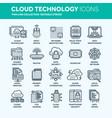 cloud computing internet technology online vector image vector image