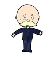 comic cartoon man with mustache vector image vector image