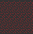 contrast modern background red dots on gray vector image vector image