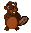cute beaver cartoon vector image vector image