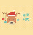 deer with balls celebration happy christmas vector image