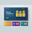 design header for crypto currency with gold vector image