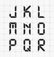 Digital font vector image