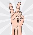 Dva prsta koza bela resize vector image vector image