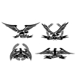 Eagle heraldic labels with laurel wreaths shields vector image vector image