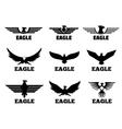 Eagles logo set vector image