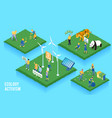 ecolog activism isometric concept vector image vector image
