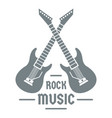 electric guitar logo simple gray style vector image