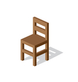 Empty Wooden Chair vector image