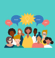 flat icons men and women talking chatting vector image vector image