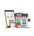 food order online shopping e-commerce mobile vector image vector image