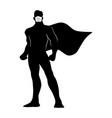 full length silhouette male superhero vector image vector image