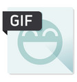 gif document file format square icon vector image