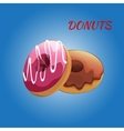 Glazed colored donuts vector image vector image