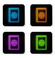 glowing neon medical book icon isolated on white vector image vector image