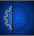 gold oriental arabesque pattern background with vector image vector image