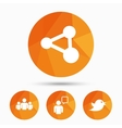 Group of people and share icons Speech bubble vector image vector image