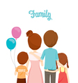 Happy Family Hugging Together vector image