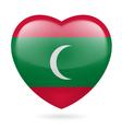 Heart icon of Maldives vector image vector image