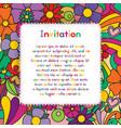 invitation zentangle floral pattern card zen vector image vector image