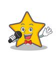 karaoke star character cartoon style vector image vector image