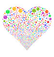 life star fireworks heart vector image vector image