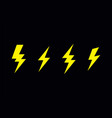 lightning bolt flash vector image vector image