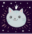 little gray kitten best friend forever text vector image vector image