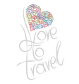 love to travel vector image vector image