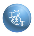 money bag icon outline style vector image
