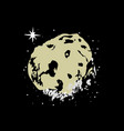 moon asteroid frozen star space hand drawn cartoon vector image vector image
