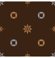 nautical brown pattern seamless eps10 vector image vector image