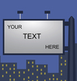 night city billboard vector image