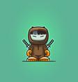 ninja warrior mascot vector image vector image