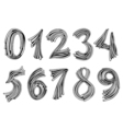 Numbers set in hand drawn vector image