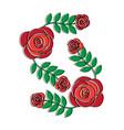 ornamental flower print icon image vector image vector image