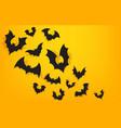 paper bats background halloween orange banner vector image