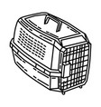 pet carrier icon doodle hand drawn or outline vector image