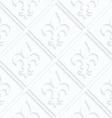 Quilling paper Fleur-de-lis with grid vector image vector image