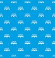 railway arch bridge pattern seamless blue vector image vector image