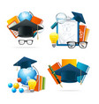 realistic detailed 3d education set vector image
