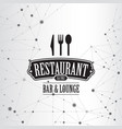 restaurant menu geometric connection background vector image vector image
