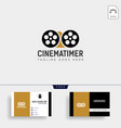 sand timer cinema entertainment simple logo vector image