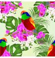 seamless texture tropical bird vector image vector image