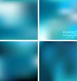 set of blue blurred background vector image vector image