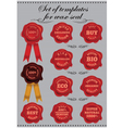 set templates for wax seal vector image