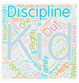 Six Ideas To Help You Discipline Your Kid text vector image vector image