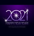 stylish greeting card happy new year 2021 alphabet vector image vector image