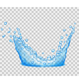 Transparent water splash vector image