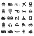 transportation icons on white background vector image vector image